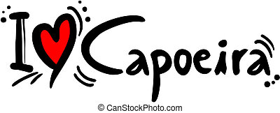 Capoeira love - Creative design of capoeira love
