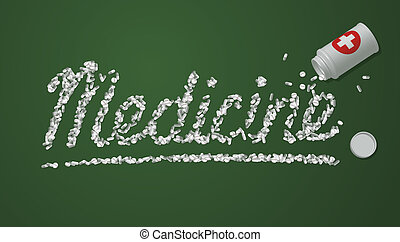 Medicine title created from pills a - Conceptual medicine...