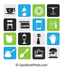 Caf? and coffeehouse icons
