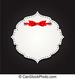 Gift Card with Ribbon, Design Elements. Vector Illustration