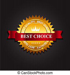 Best Choice  Label with Ribbon. Vector Illustration