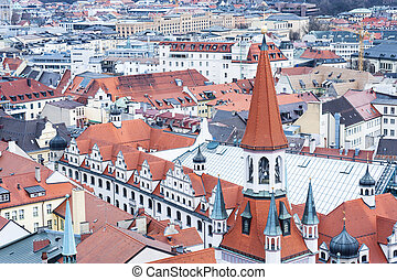 View of Munich city center Munchen, Germany