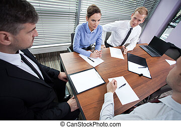 Business meeting in conference room