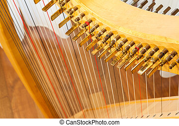 celta, harpa, topo, vista