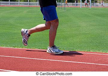 Man Running Track