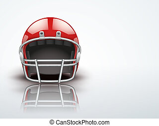 Light Background Realistic American football helmet