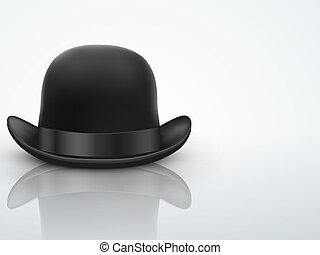 Light Background Black bowler hat