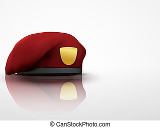 Light Background maroon Military Red Beret Army Special...