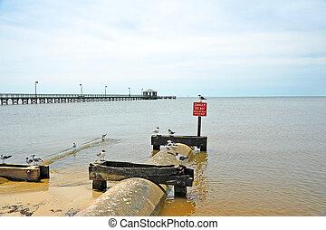 Beach Erosion Control - Drainage Culvert to Control Beach...