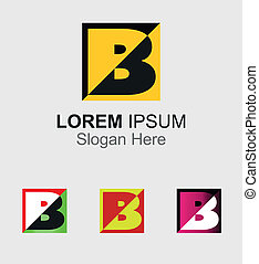Abstract logo icon for letter B