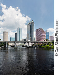 City skyline of Tampa Florida during the day - Florida...
