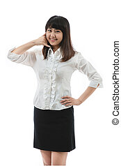 Portrait of a confident young woman - Asian business woman -...