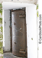 "hermetically sealed door in the museum of ""cold war"""