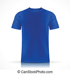 blue T-shirt template  isolated on white background