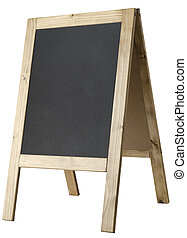 A-frame Blackboard Side View - Isolated - Angled, left...