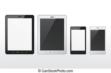 device set with tablet and smart phone