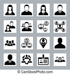 Human resource and management icons set - Modern vector...