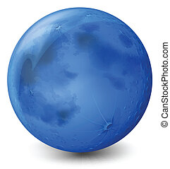 azul, planeta