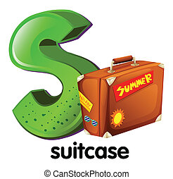 A letter S with a suitcase