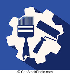 Tools design over blue background, vector illustration