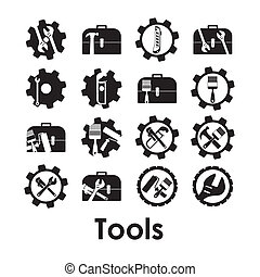 Tools design over white background, vector illustration