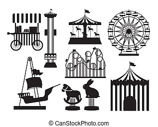Theme park design over white background, vector illustration