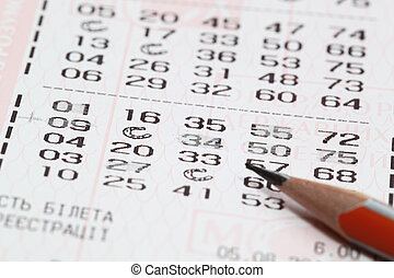 lottery - pen and blank for lotteries