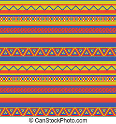 mexico pattern - Bright coloured ethnical mexican style...