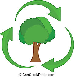Recycling Tree Vector Icon