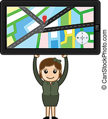 Carrying GPS Device Vector
