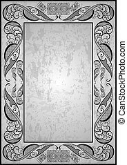 Abstract frame with grunge background