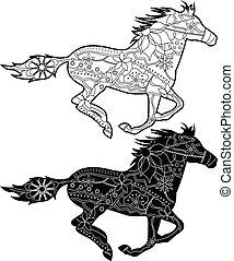 czarnoskóry, konie