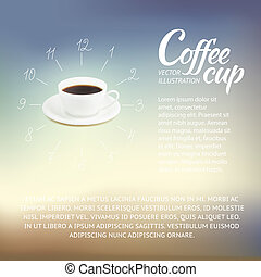 Coffee cup. - Coffee cup design at infographic style. Vector...