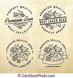 Beer emblems and labels. - Vintage beer emblems and label....