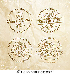 Design of label for wine. - Design of label for wine with...