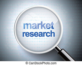magnifying glass with words market research