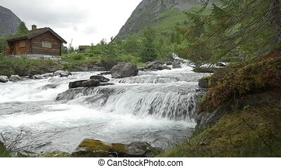 1080p, Flowing River, Norway - Nature Of Norway, Landscapes,...