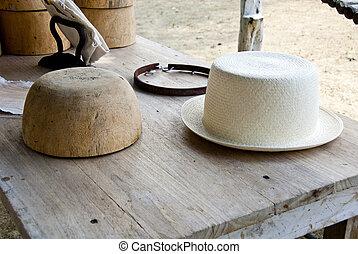 Stencil And Montecristi Panama Hat