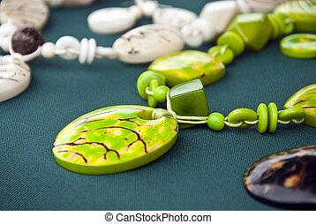 Jewelry - Tagua Nut Lime Necklace