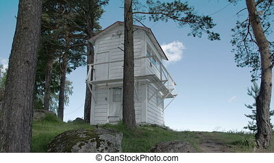 A white house on a hill in Kasmu Estonia FS700 Odyssey 7Q -...