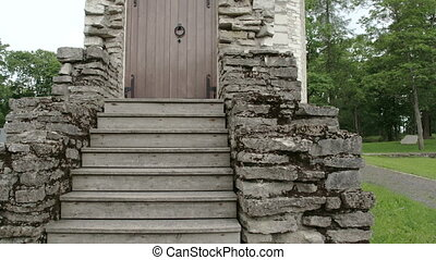 A gate from a remains of an old castle in Paide Estonia...
