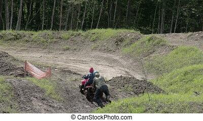 An ATV car going uphill FS700 Odyssey 7Q - An ATV car going...