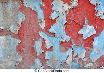 Neglected wall - Background of neglected wall with layers of...