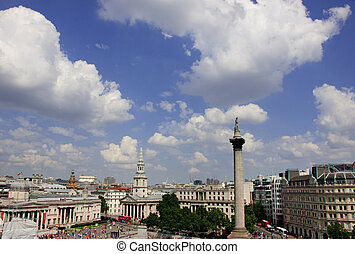 Trafalgar square - Skyline view of Londons trafalgar square...