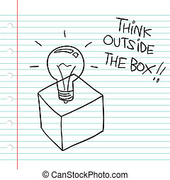 Think Outside the Box - Vector illustration of Think Outside...