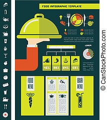 Food Infographic Template. - Flat Food Infographic Elements...
