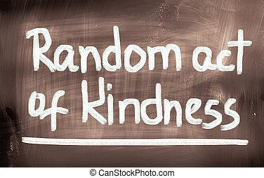 aleatorio, ACTO, de, amabilidad, concepto