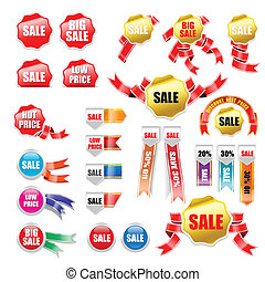 sale tag ribbon and banner