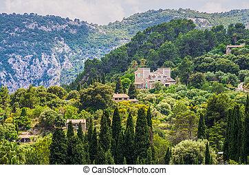 Valldemossa village on Majorca - Scenic view of Valldemossa...