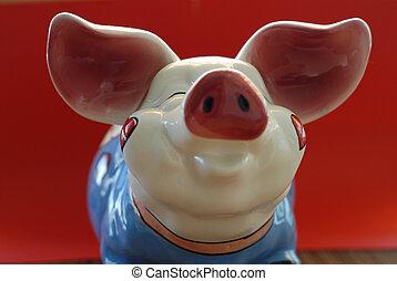 piggybank - smiling piggybank
